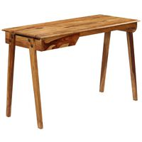 vidaXL Písací stôl 118x50x76 cm masívne sheeshamové drevo