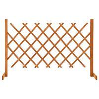 vidaXL Záhradný mriežkový plot oranžový 120x90 cm masívne jedľové drevo