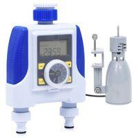 vidaXL Elektronický časovač zavlažovania s dvoma výstupmi a dažďovým senzorom
