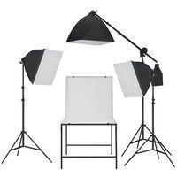 vidaXL Fotografická štúdiová softboxová súprava osvetlenia s foto stolom