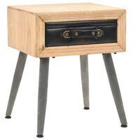 vidaXL Nočný stolík z jedľového dreva 43x38x50 cm