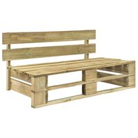 vidaXL Záhradná lavička z paliet, drevo