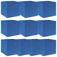 vidaXL Úložné boxy 10 ks modré 32x32x32 cm látkové