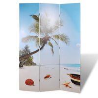 vidaXL Skladací paraván 120x170 cm potlač pláže