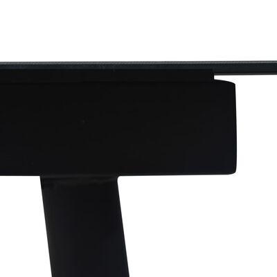 vidaXL 7-dielna vonkajšia jedálenská súprava, lano a oceľ, čierna