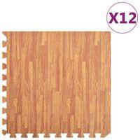 vidaXL Podložka puzzle štruktúra dreva 12 ks 4,32㎡ EVA pena