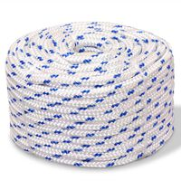 vidaXL Lodné lano, polypropylén, 8 mm, 100 m, biele