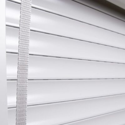 vidaXL Žalúzie biele 160x150 cm hliníkové