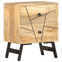 vidaXL Nočný stolík 40x30x50 cm masívne mangovníkové drevo