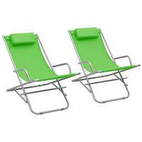 vidaXL Hojdacie stoličky 2 ks oceľové zelené