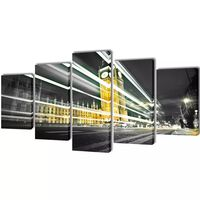 Sada obrazov na stenu, motív Londýn Big Ben 200 x 100 cm