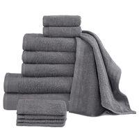 vidaXL 12-dielna sada uterákov, bavlna 450 g/m², antracitové