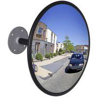 Čierne konvexné akrylátové dopravné zrkadlo do interiéru 30 cm
