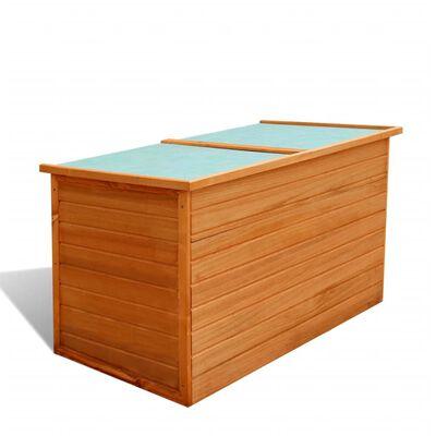 vidaXL Záhradný úložný box 126x72x72 cm, drevo