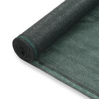 vidaXL Zástena na tenisový kurt, HDPE 1,8x50 m, zelená