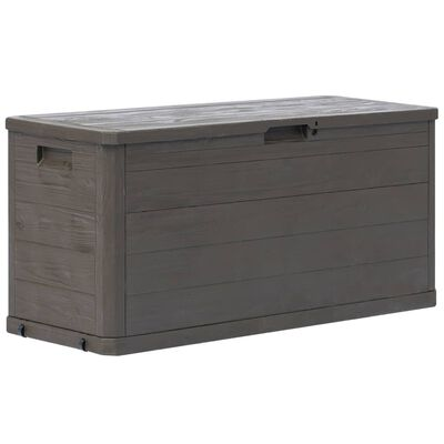 vidaXL Záhradný úložný box hnedý 280 l