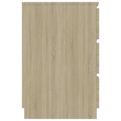 vidaXL Písací stôl, dub sonoma 140x50x77 cm, drevotrieska