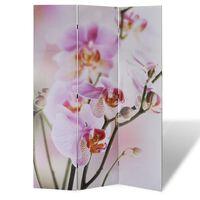 vidaXL Skladací paraván 120x170 cm potlač kvetov