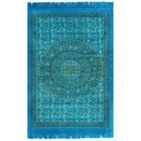 vidaXL Kilim bavlnený koberec so vzormi 120x180 cm tyrkysový