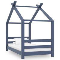 vidaXL Rám detskej postele sivý 70x140 cm borovicový masív