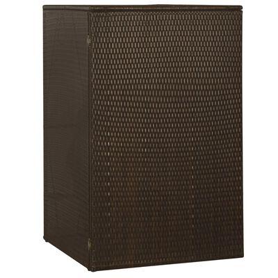 vidaXL Ohrada na odpadkový kôš, polyratan 76x78x120 cm, hnedá