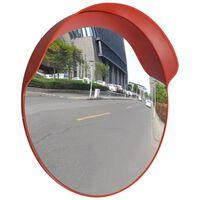 Konvexné dopravné zrkadlo, PC plast, oranžové 60 cm, do exteriéru