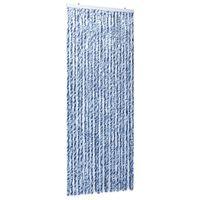 vidaXL Záves proti hmyzu, modrý, biely a strieborný 90x220 cm, ženilka