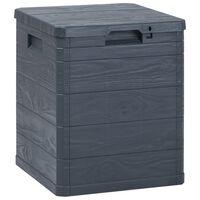 vidaXL Záhradný úložný box antracitový 90 l