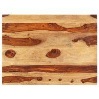 vidaXL Stolová doska, drevený masív sheesham 15-16 mm, 60x70 cm