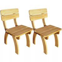 vidaXL Záhradné stoličky 2 ks, impregnovaná borovica
