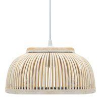 vidaXL Závesná lampa, bambus 37x15,5 cm, 40 W, polkruhová E27