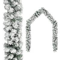 vidaXL Vianočná girlanda, zasnežená, zelená 20 m, PVC