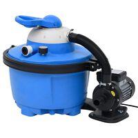 vidaXL Čerpadlo na pieskový filter modro-čierne 385x620x432 mm 200 W 25 l