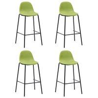 vidaXL Barové stoličky 4 ks, zelené, látka