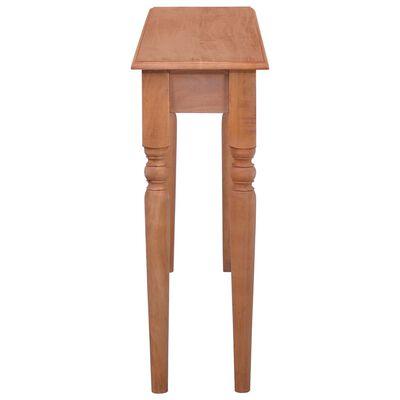 vidaXL Konzolový stolík 120 cm mahagónový masív