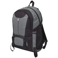 vidaXL Turistický batoh, 40 l, čierno-sivý