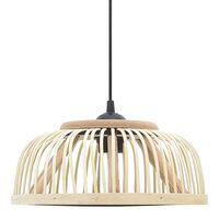 vidaXL Závesná lampa, bambus, 34x14,5 cm, 40 W, polkruhová E27