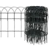 vidaXL Záhradné oplotenie, železo s práškovou úpravou 10x0,4 m