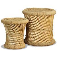 vidaXL Stoličky 2 ks, bambus a juta
