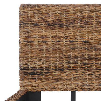 vidaXL Posteľný rám, prírodný ratan 180x200 cm