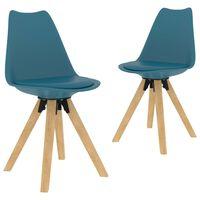 vidaXL Jedálenské stoličky 2 ks, tyrkysové