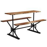 vidaXL Barový stôl s lavicami 180x50x107 cm masívne akáciové drevo