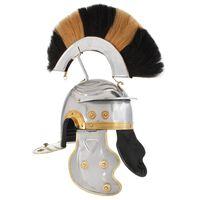 vidaXL Rímska vojenská starožitná replika prilby pre LARP strieborná oceľová