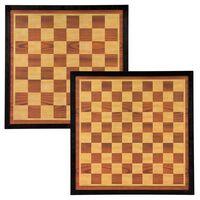 Abbey Game Šachovnica a doska na dámu 41x41cm drevo hnedá a béžová