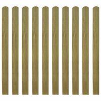 vidaXL Impregnované plotové dosky 10 ks, drevo 120 cm