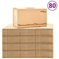 vidaXL Kartónové krabice na sťahovanie XXL 80 ks 60x33x34 cm