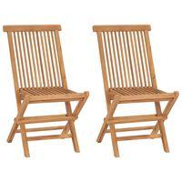 vidaXL Skladacie záhradné stoličky 2 ks, tíkový masív