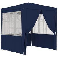 vidaXL Profesionálny párty stan+bočné steny 2x2 m, modrý 90 g/m²