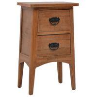 vidaXL Nočný stolík z jedľového dreva 40x29x68 cm hnedý
