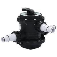 """vidaXL Viacsmerový ventil pre pieskový filter ABS 1,5"""" 6-cestný"""